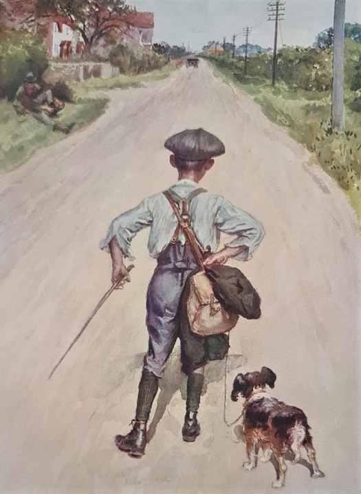 On The Road To London, a plate from the 1914 'Chatterbox Annual', myth