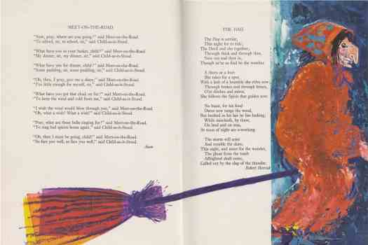 Oxford Book of Poetry for Children compiled by Edward Blishen, illustrated by Brian Wildsmith (1963) hag