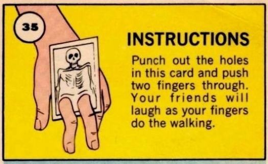 Punch out the holes. Your friends will laugh