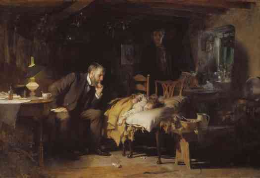 Sir Luke Fildes The Doctor exhibited 1891 convalescing