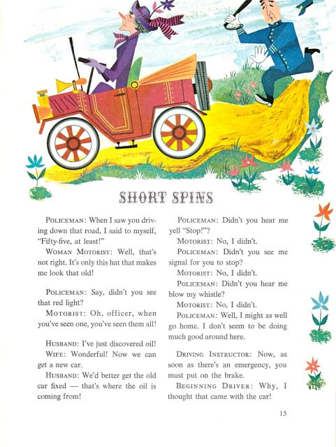 The Joke Book compiled by Oscar Weigle, illustrated by Bill & Bonnie Rutherford (1963) police