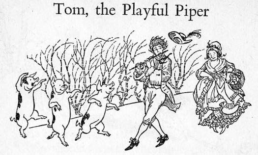 The Puffin Book Of Nursery Rhymes,  Iona and Peter Opie, Ill. Pauline Baynes (Penguin Books Ltd, 1963) pigs dancing
