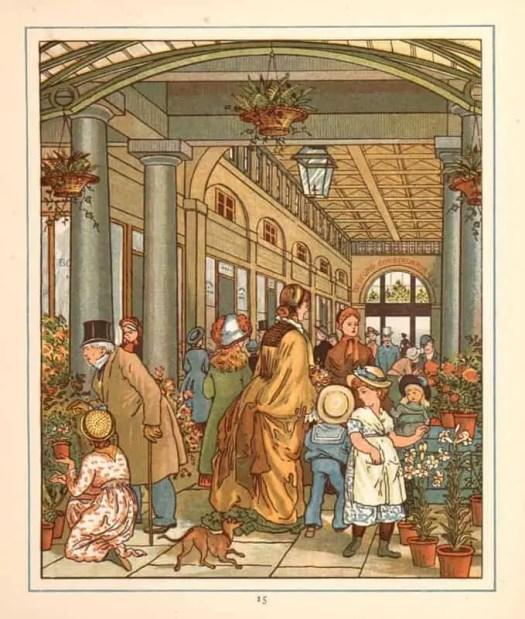 Walter Crane 1845 - 1915 London Town Covent Garden 1883