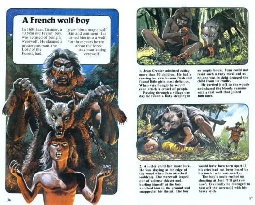 A French Wolf Boy. The Usborne Supernatural Guide Vampires Werewolves & Demons, 1979