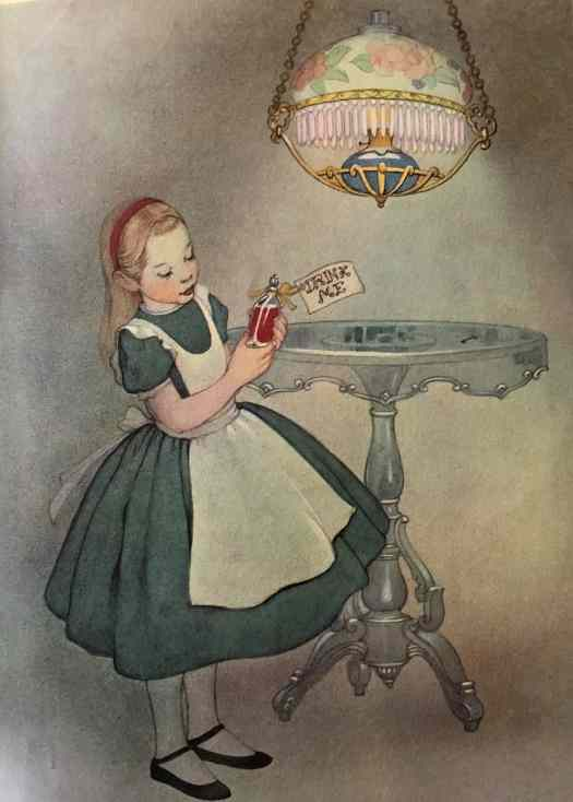 Alice in Wonderland illustrations by Marjorie Torrey 1955, lighting