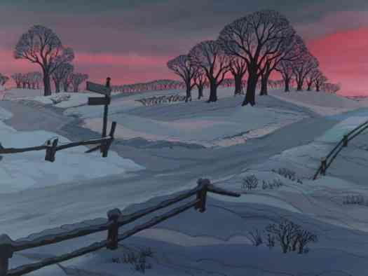 Animation backgrounds from Disney's 101 Dalmatians, 1961