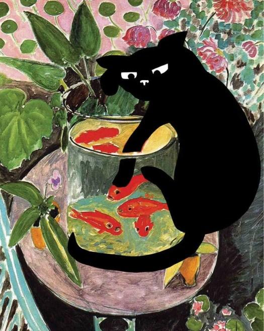 Henri Matisse Goldfish Cat