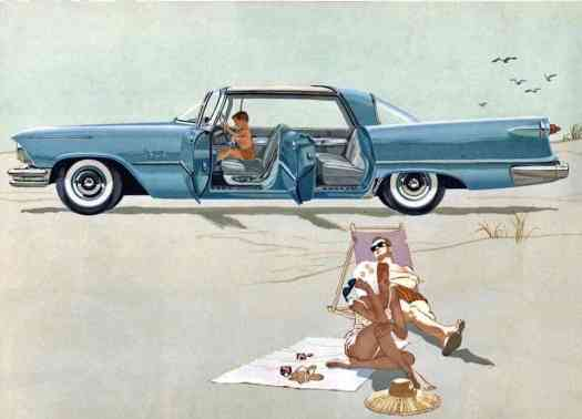 Horizon Blue 1957 Imperial advertisement. This looks straight out of Mad Men.