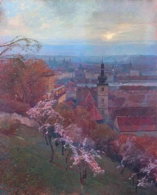 Jaroslav Šetelík (Czech , 1881 - 1955) View from the Seminary Gardens, 1908