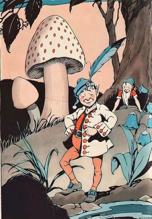 Make and Make-Believe by Arthur I. Gates and Miriam Blanton Huber, Macmillan, 1931 mushroom
