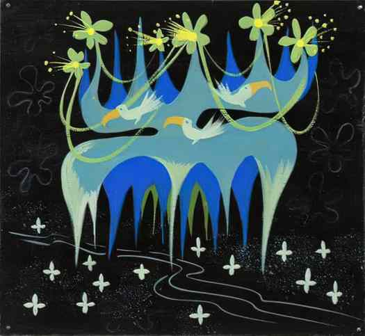 Mary Blair It's a Small World' concept painting (Walt Disney, 1964-66)