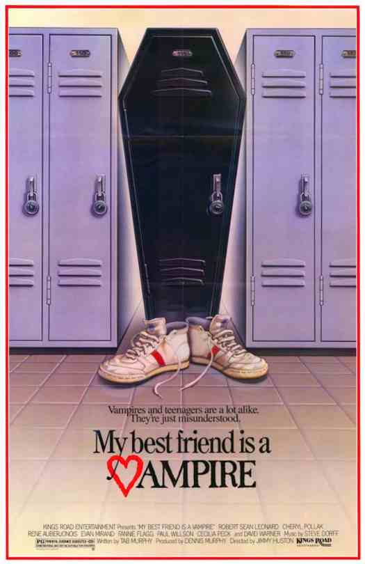 """My Best Friend Is a Vampire (also known as I Was a Teenage Vampire) is a 1987 American comedy horror film directed by Jimmy Huston. The story revolves around a newly made vampire who is trying to live as a """"good"""" vampire and not feed on humans."""