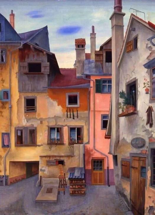 Rudolf Wacker (1893 - 1939) Old Houses in Lindau, 1928