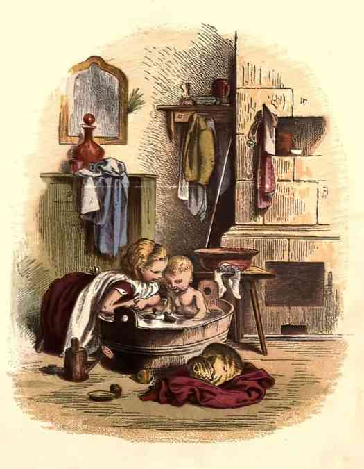 Schnick schnack trifles for the little-ones by Oscar Pletsch 1867 bath
