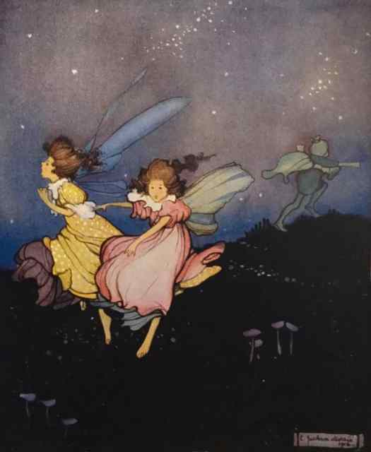 The White Butterfly and Other Fairytales written and illustrated by Ethel Jackson Morris 1921 The fairy folk were kept in a constant state of terror