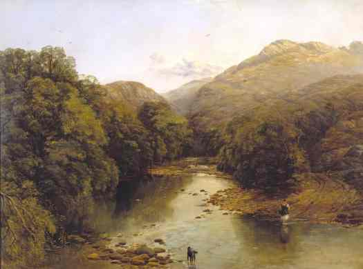 The Ford  by Thomas Creswick 1811-1869