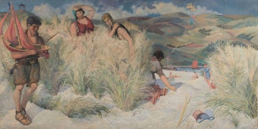 Aberdovey', by Gilbert Spencer, oil on canvas, 1953 beach