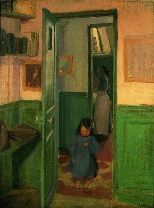 Harold Gilman (English, 1876 - 1919) In Sickert's House 1907