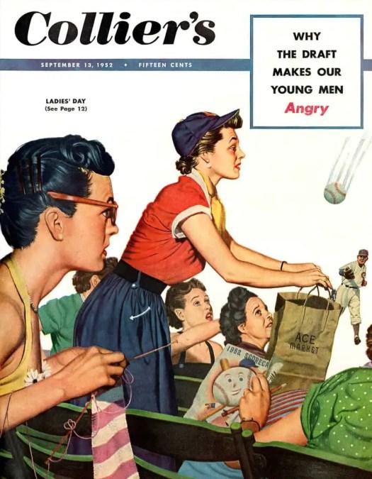 Stanley Ekman, Ladies' Day, Collier's Magazine, September 13, 1952 baseball