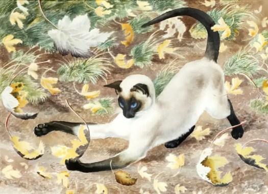 Charles Frederick Tunnicliffe (English, 1901-1979) Autumn Kitten