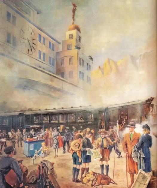 Orient Express by Austrian artist Alexander Pawlowitz (1884-1955)