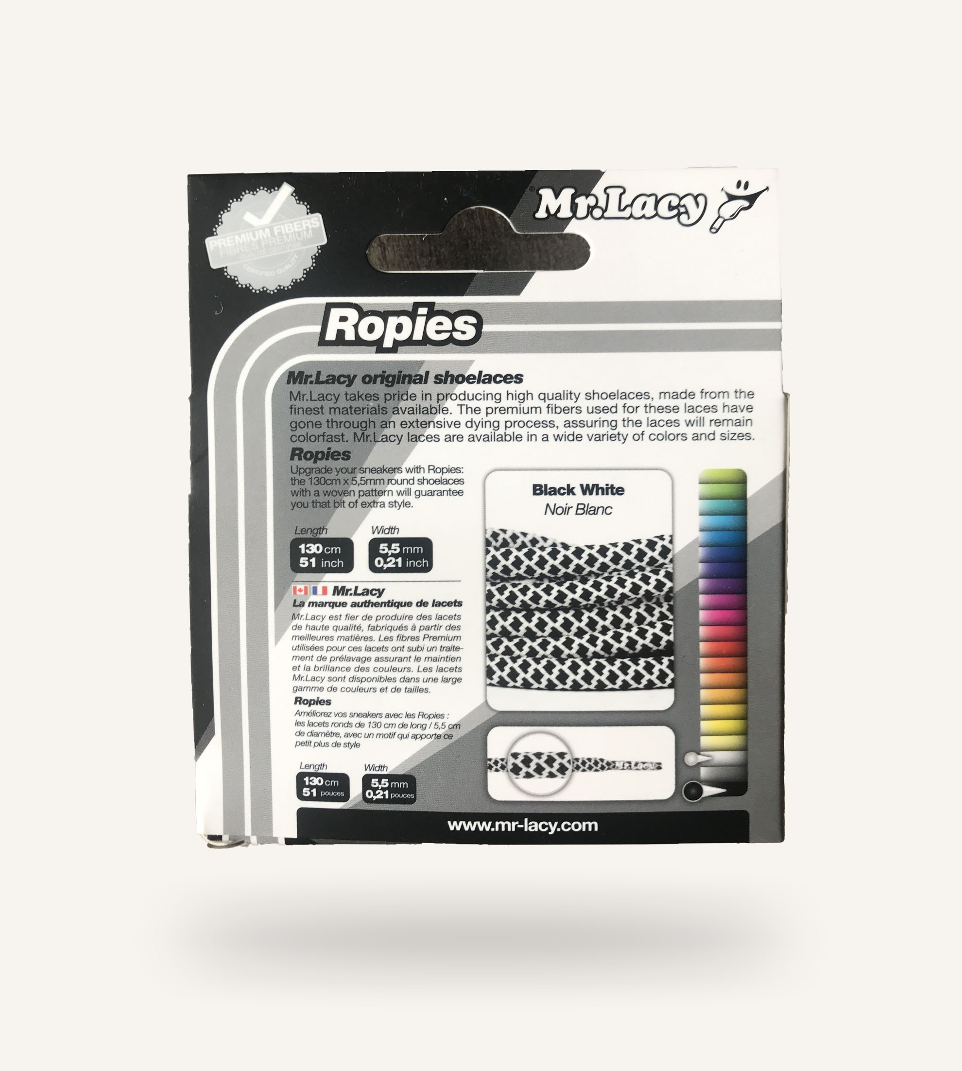 Mister Lacy Roppies Black White 130 Cm