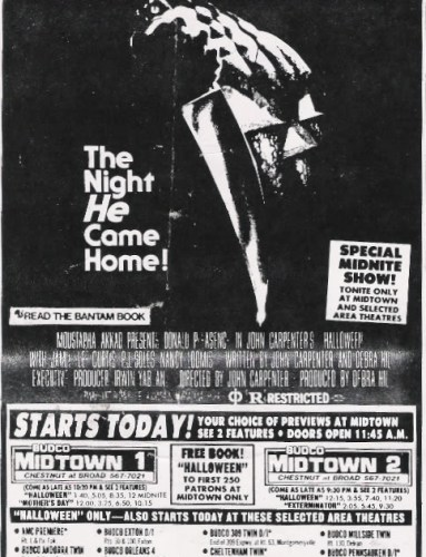 John Carpenter's Halloween Newspaper Ad