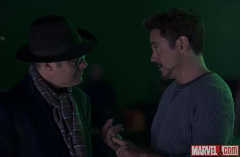 Avengers Age of Ultron - James Spader and Robert Downey Jr