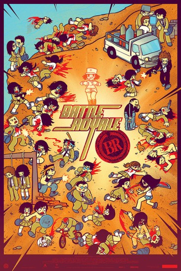 Mondo's 'Battle Royale' Print by Bryan Lee O'Malley and Kevin Tong [regular]
