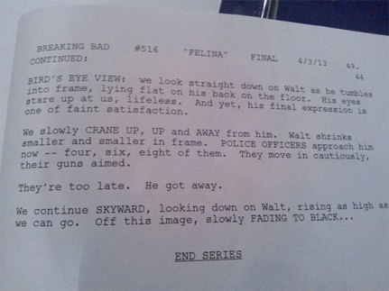 Breaking Bad Finale Script 2