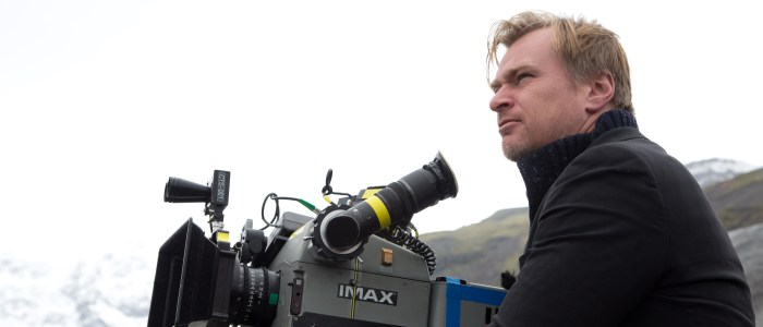 Christopher Nolan directing Interstellar