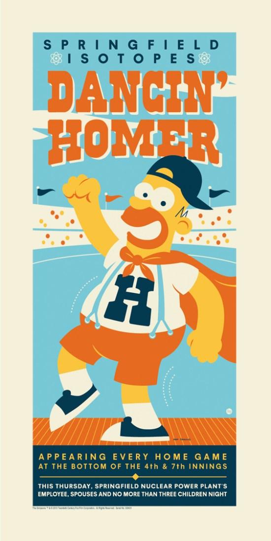 Dancin Homer - Dave Perillo sig