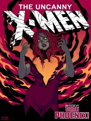 "Dark Phoenix by Becky Cloonan 18"" x 24"" screen print. Edition of 225."