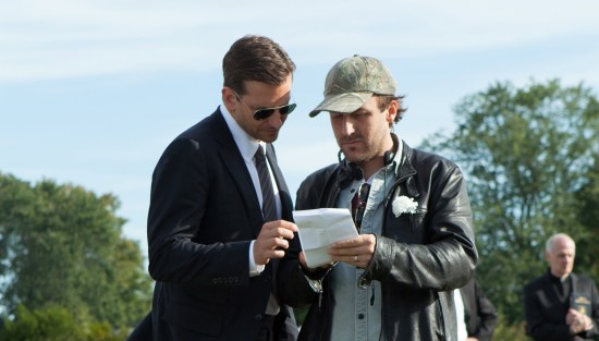 Derek Cianfrance and Bradley Cooper on The Place Beyond the Pines set