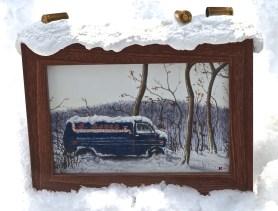 Eugene Kaik The Sopranos Postcard Framed