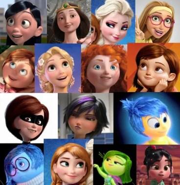Female Disney Faces