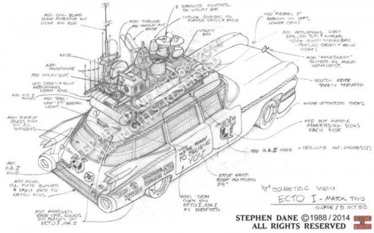 Ghostbusters Ecto 1 Sketch 4