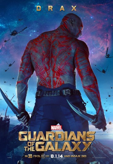 Guardians Galaxy Drax poster
