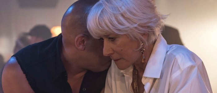 The Fate of the Furious Helen Mirren and Vin Diesel