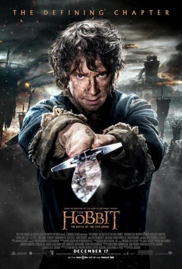 Hobbit Battle Five Armies Bilbo poster