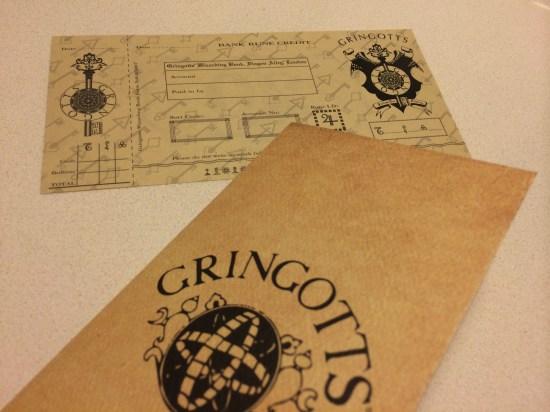Gringotts bank note