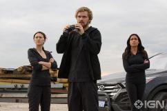 Iron Fist - Jessica Henwick as Colleen Wing, Finn Jones as Danny Rand, Rosario Dawson as Claire Temple