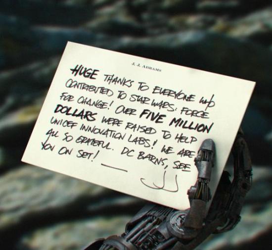 JJ Abrams episode 7 Droid Hand