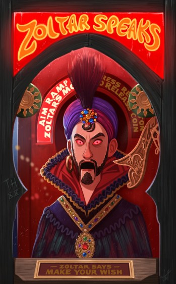 "Jeff Delgado ""Zoltar"" Canvas Print"
