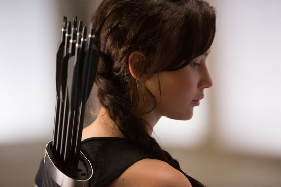 Jennifer Lawrence as Katniss Everdeen in The Hunger Games Catching Fire
