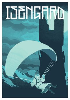 Jesse Riggle Isengard LOTR Postcard