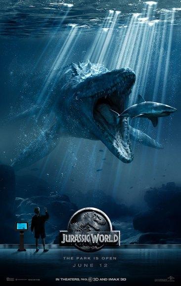 Jurassic World poster - Mosasaurus