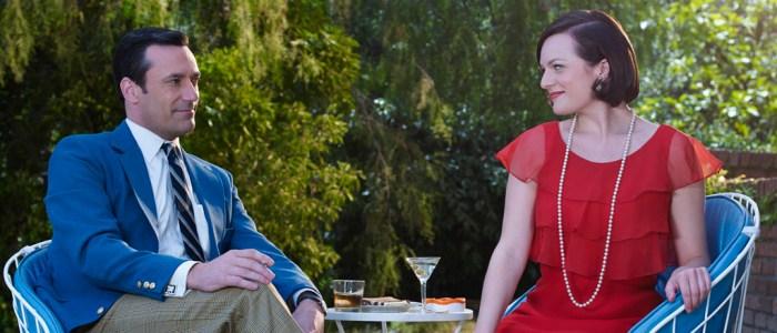 Mad Men Season 7 garden party - Don and Peggy (header)