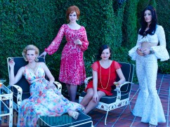 Mad Men Season 7 garden party - women