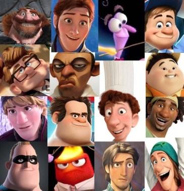 Male Disney Faces